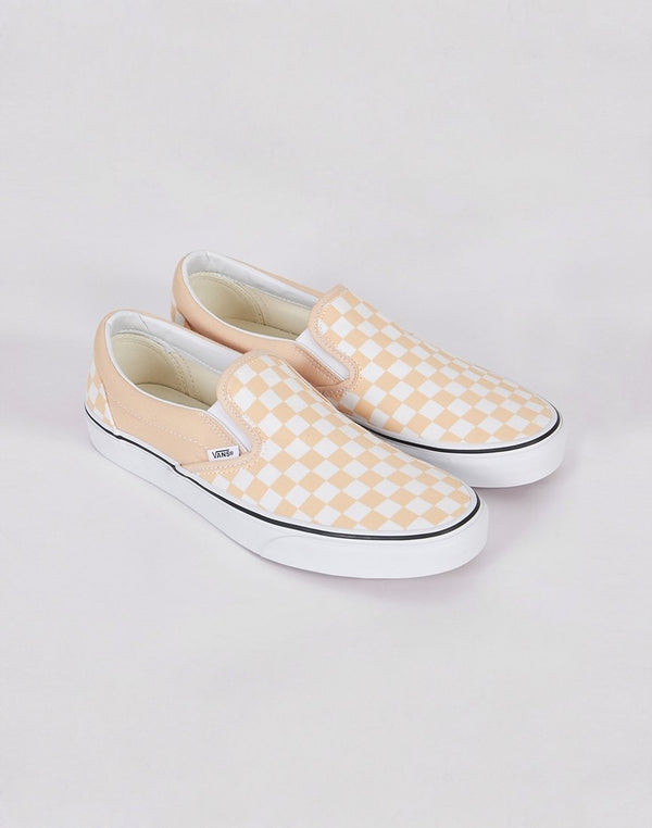 Vans - Classic Slip On Plimsoll Pink & White Checks