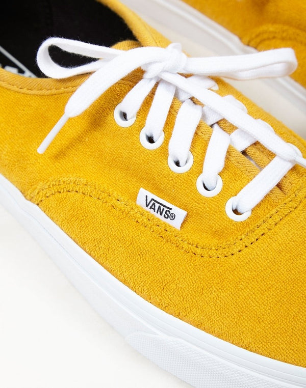 Vans - Authentic Terry Plimsolls Yellow
