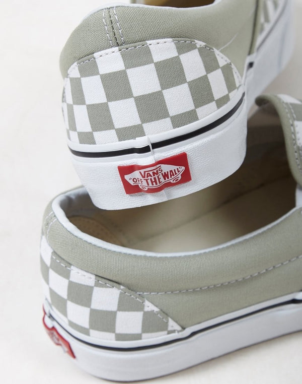 Vans - Classic Slip On Plimsoll Green & White Checks