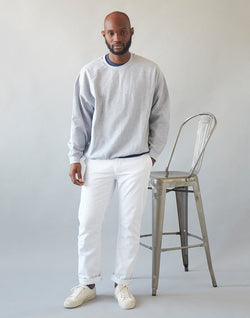 The Idle Man -Straight Leg Chino White