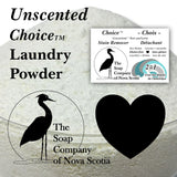 Samples ~ Choice Laundry Powder & Sample Stain Bar ~ Unscented & Essential Oil