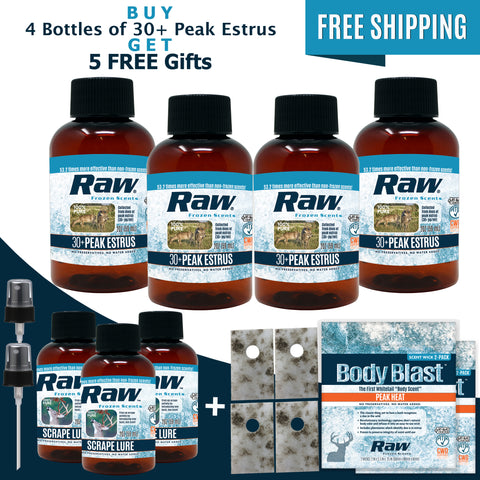 30+ Peak Estrus Rut Package - Buy 4 Get 5 FREE! + Free Shipping
