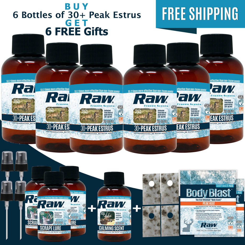 30+ Peak Estrus Rut Package - Buy 6 Get 6 FREE! + Free Shipping