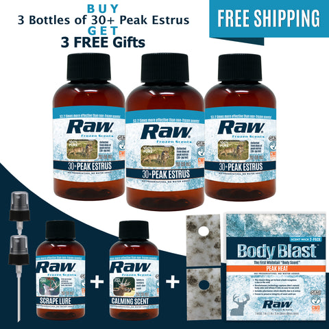 30+ Peak Estrus Rut Package - Buy 3 Get 3 FREE! + Free Shipping