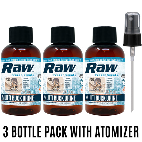 Multi-Buck Urine - 3 x 2oz + FREE Atomizer