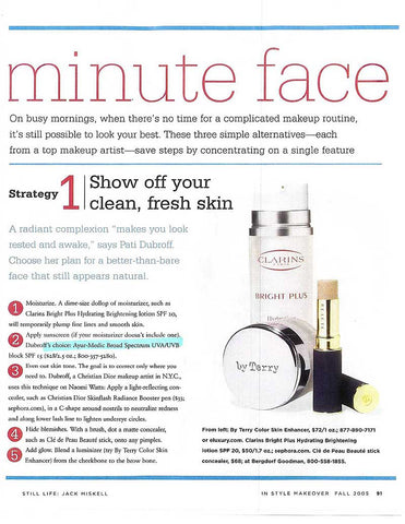 Minute Face - InStyle article