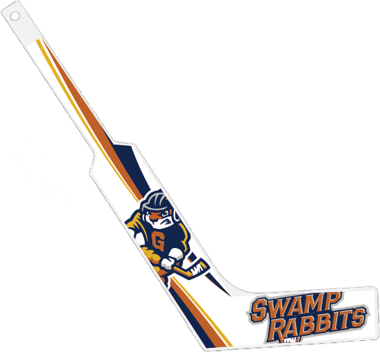 Swamp Rabbits Mini-Hockey Goalie Sticks - White