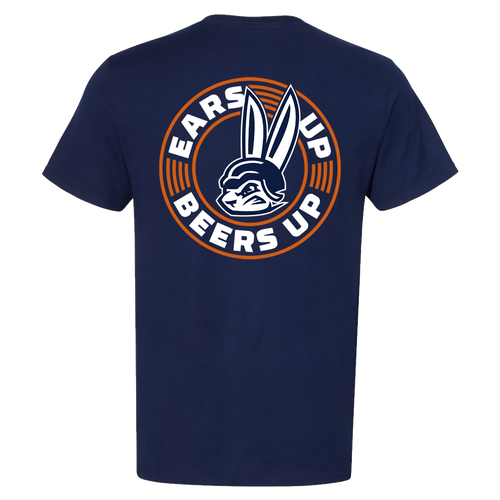 GSR- Ears Up Beers Up Shirt- Navy