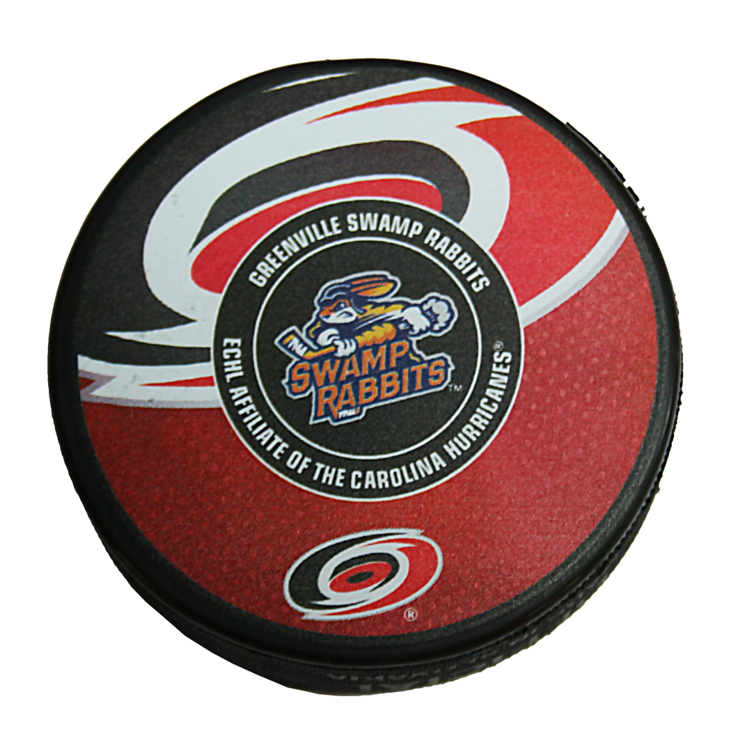 Official Swamp Rabbit/Hurricanes Affiliation Hockey Pucks