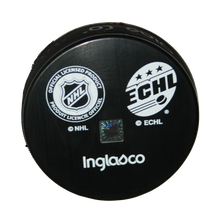 Load image into Gallery viewer, Official Swamp Rabbit/Hurricanes Affiliation Hockey Pucks