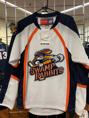 Swamp Rabbits White Replica Jersey
