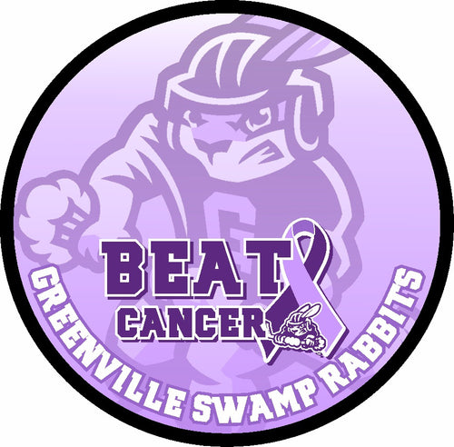 GSR HOCKEY FIGHT CANCER PUCK