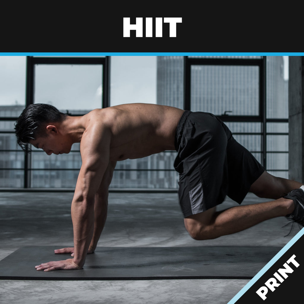 HIIT: High Intensity Interval Training Print