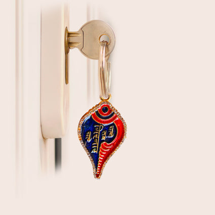 Girnar Key Chain (2 side diamond | Hindi)