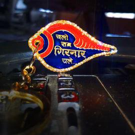 Girnar Key Chain (1 side diamond | Hindi)