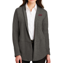 Load image into Gallery viewer, Port Authority Ladies Interlock Cardigan - Serif- Close Out
