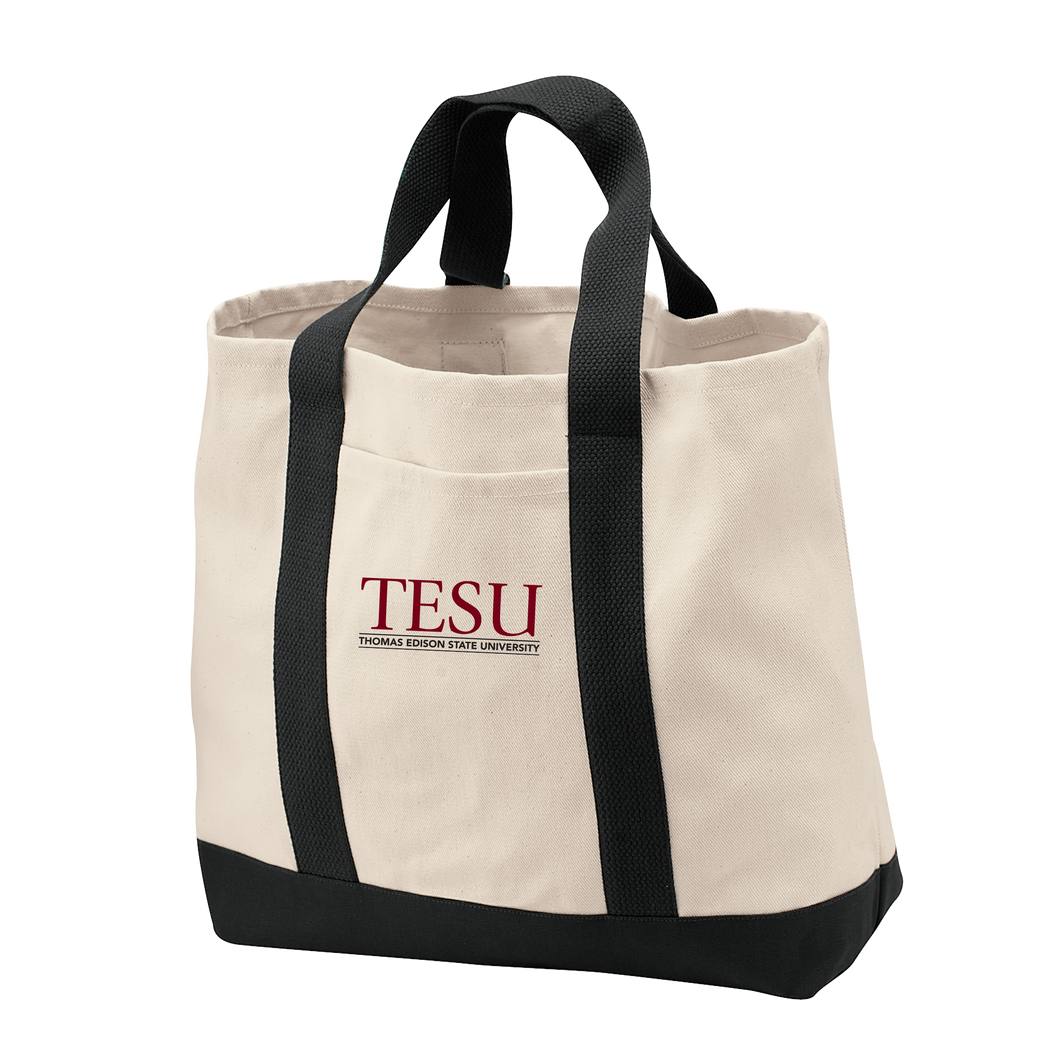 Port Authority  Two Tone Shopping Tote - Serif