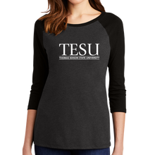 Load image into Gallery viewer, District Women's Perfect Tri 3/4 Sleeve Raglan - Serif