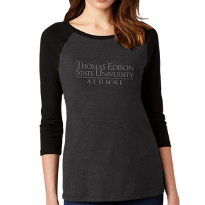 District Women's Perfect Tri 3/4-Sleeve Raglan- Alumni