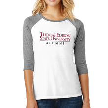Load image into Gallery viewer, District Women's Perfect Tri 3/4-Sleeve Raglan- Alumni