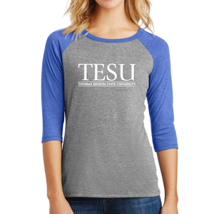 District Women's Perfect Tri 3/4 Sleeve Raglan - Serif