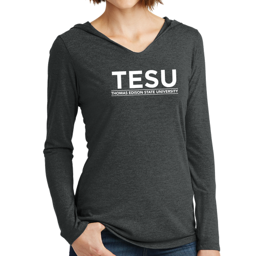District Women's Perfect Tri Long Sleeve Hoodie - Sans Serif