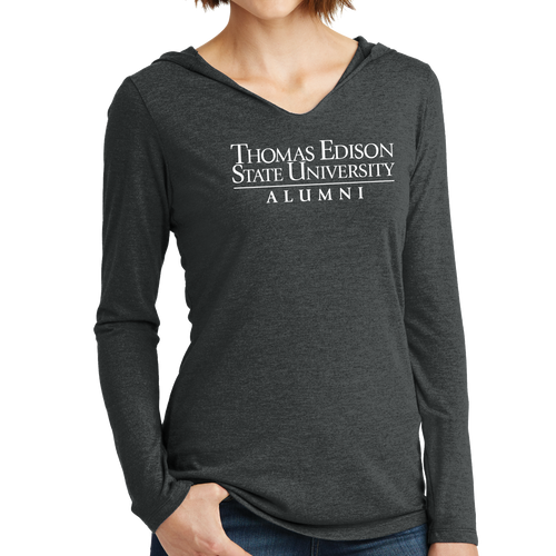 District Women's Perfect Tri Long Sleeve Hoodie- Alumni