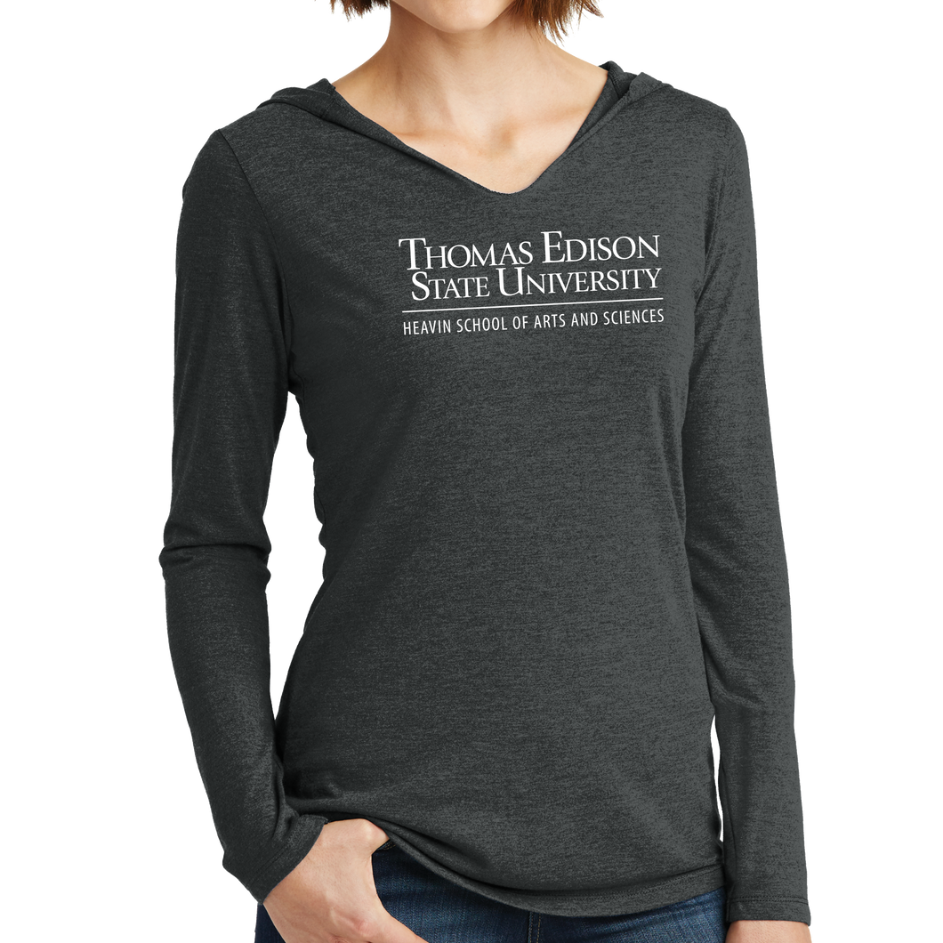 District Women's Perfect Tri Long Sleeve Hoodie - Heavin School Academic
