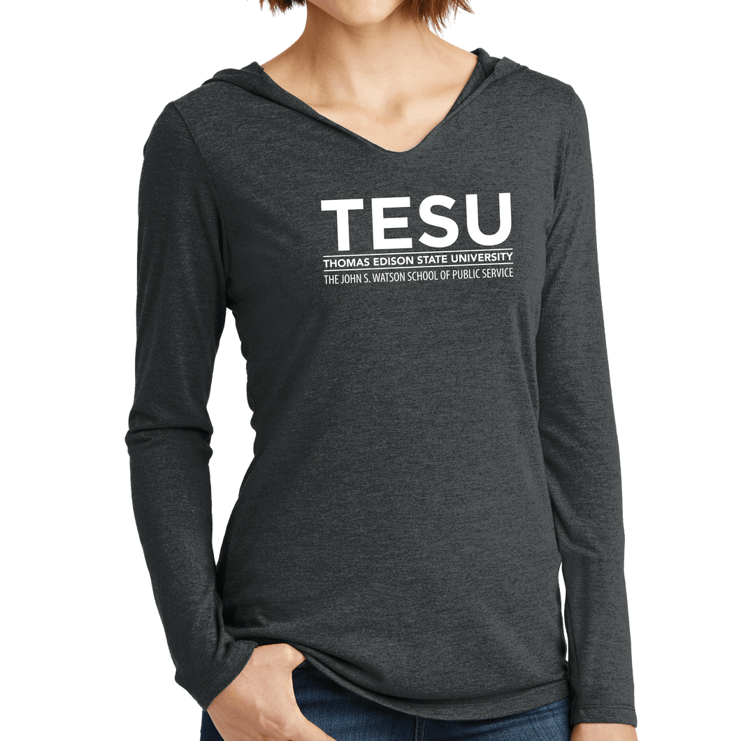 District Women's Perfect Tri Long Sleeve Hoodie - John S. Watson Sans