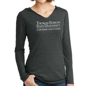 District Women's Perfect Tri Long Sleeve Hoodie - Nursing Academic