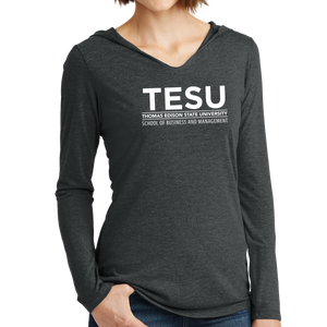 District Women's Perfect Tri Long Sleeve Hoodie - Business and Management Sans