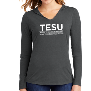 District Women's Perfect Tri Long Sleeve Hoodie - Nursing Sans