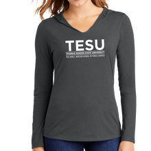 Load image into Gallery viewer, District Women's Perfect Tri Long Sleeve Hoodie - John S. Watson Sans