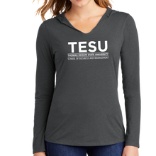 Load image into Gallery viewer, District Women's Perfect Tri Long Sleeve Hoodie - Business and Management Sans