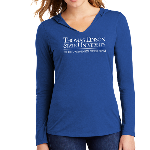 District Women's Perfect Tri Long Sleeve Hoodie - John S. Watson Academic