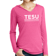 Load image into Gallery viewer, District Women's Perfect Tri Long Sleeve Hoodie - Science and Technology Sans