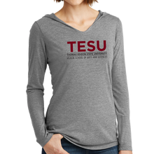 Load image into Gallery viewer, District Women's Perfect Tri Long Sleeve Hoodie - Heavin School Sans