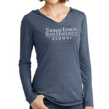 Load image into Gallery viewer, District Women's Perfect Tri Long Sleeve Hoodie- Alumni