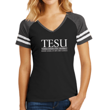 Load image into Gallery viewer, District Women's Game V-Neck Tee - Heavin School