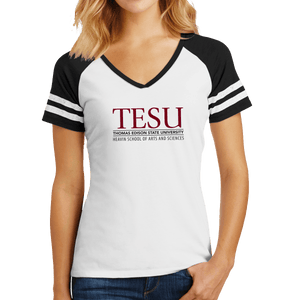 District Women's Game V-Neck Tee - Heavin School