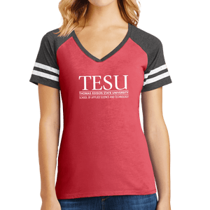 District Women's Game V-Neck Tee - Science and Technology