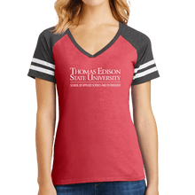 Load image into Gallery viewer, District Women's Game V-Neck Tee - Science and Technology Academic
