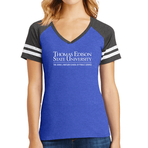 District Women's Game V-Neck Tee - John S. Watson Academic