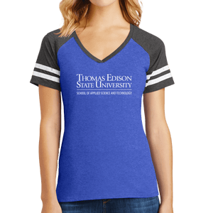 District Women's Game V-Neck Tee - Science and Technology Academic
