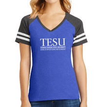Load image into Gallery viewer, District Women's Game V-Neck Tee - Science and Technology