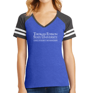 District Women's Game V-Neck Tee - Business and Management Academic