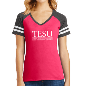 District Women's Game V-Neck Tee - Business and Management