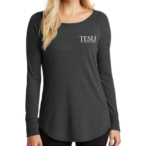 District Women's Perfect Tri Long Sleeve Tunic Tee - Serif - Close Out
