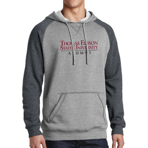 District Lightweight Fleece Raglan Hoodie- Alumni