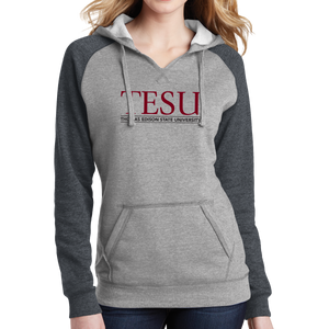 District Women's Lightweight Fleece Raglan Hoodie- Serif